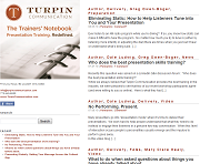 Turpin Communication Blog (The Trainers' Notebook)  Built by OwenProCo